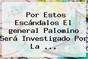 Por Estos Escándalos El <b>general Palomino</b> Será Investigado Por La <b>...</b>