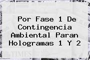 Por Fase 1 De <b>Contingencia Ambiental</b> Paran Hologramas 1 Y 2