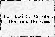 Por Qué Se Celebra El <b>Domingo De Ramos</b>