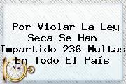 Por Violar La Ley Seca Se Han Impartido 236 Multas En Todo El País