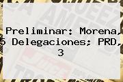Preliminar: <b>Morena</b>, 5 Delegaciones; PRD, 3