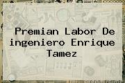 Premian Labor De <b>ingeniero</b> Enrique Tamez