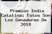 <b>Premios India Catalina</b>: Estos Son Los Ganadores De 2018