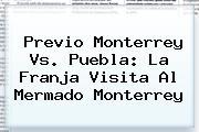 Previo <b>Monterrey Vs</b>. <b>Puebla</b>: La Franja Visita Al Mermado Monterrey