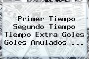 Primer Tiempo Segundo Tiempo Tiempo Extra Goles Goles Anulados ...