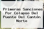 Primeras Sanciones Por Colapso Del Puente Del Cantón Norte