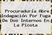 <b>Procuraduría</b> Abre Indagación Por Fuga De Dos Internos En La Picota