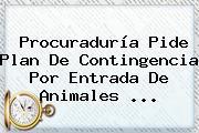 <b>Procuraduría</b> Pide Plan De Contingencia Por Entrada De Animales <b>...</b>