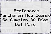 Profesores Marcharán Hoy Cuando Se Cumplen 30 Días Del Paro