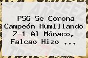 <b>PSG</b> Se Corona Campeón Humillando 7-1 Al <b>Mónaco</b>, Falcao Hizo ...