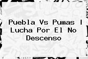 <b>Puebla Vs Pumas</b>   Lucha Por El No Descenso