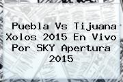<b>Puebla Vs Tijuana</b> Xolos 2015 En Vivo Por SKY Apertura 2015