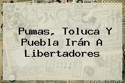 <b>Pumas</b>, Toluca Y Puebla Irán A Libertadores