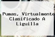 <b>Pumas</b>, Virtualmente Clasificado A Liguilla