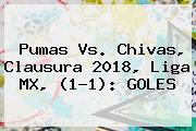 <b>Pumas Vs</b>. <b>Chivas</b>, Clausura 2018, Liga MX, (1-1): GOLES