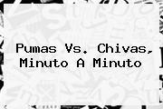 <b>Pumas Vs</b>. <b>Chivas</b>, Minuto A Minuto