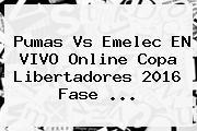 Pumas Vs Emelec EN VIVO Online <b>Copa Libertadores 2016</b> Fase <b>...</b>