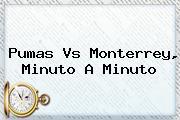 <b>Pumas Vs Monterrey</b>, Minuto A Minuto