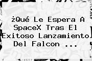 ¿Qué Le Espera A SpaceX Tras El Exitoso Lanzamiento Del <b>Falcon</b> ...