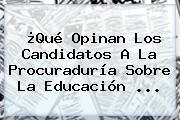 ¿Qué Opinan Los Candidatos A La <b>Procuraduría</b> Sobre La Educación ...
