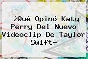 ¿Qué Opinó Katy Perry Del Nuevo Videoclip De <b>Taylor Swift</b>?