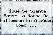 ¿Qué Se Siente Pasar La Noche De Halloween En Ataúdes Como ...