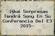 ¿Qué Sorpresas Tendrá <b>Sony</b> En Su Conferencia Del E3 2015?