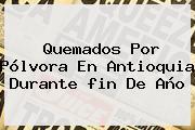 Quemados Por Pólvora En Antioquia Durante <b>fin De Año</b>