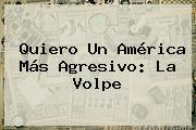 Quiero Un <b>América</b> Más Agresivo: La Volpe