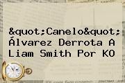 &quot;<b>Canelo</b>&quot; Álvarez Derrota A Liam Smith Por KO