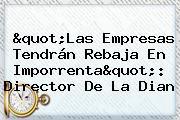 &quot;Las Empresas Tendrán Rebaja En Imporrenta&quot;: Director De La <b>Dian</b>