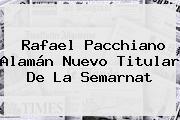 <b>Rafael Pacchiano</b> Alamán Nuevo Titular De La Semarnat