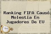 <b>Ranking FIFA</b> Causó Molestia En Jugadores De EU