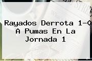<b>Rayados</b> Derrota 1-0 A <b>Pumas</b> En La Jornada 1