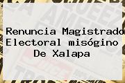 Renuncia Magistrado Electoral <b>misógino</b> De Xalapa