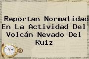 Reportan Normalidad En La Actividad Del Volcán <b>Nevado Del Ruiz</b>