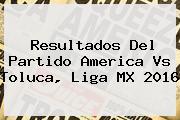 Resultados Del Partido <b>America Vs Toluca</b>, Liga MX 2016