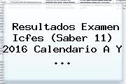 <b>Resultados</b> Examen <b>Icfes</b> (Saber 11) <b>2016</b> Calendario A Y ...