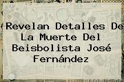 Revelan Detalles De La Muerte Del Beisbolista <b>José Fernández</b>