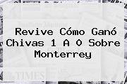 Revive Cómo Ganó <b>Chivas</b> 1 A 0 Sobre <b>Monterrey</b>