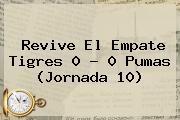 Revive El Empate <b>Tigres</b> 0 - 0 <b>Pumas</b> (Jornada 10)