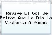 Revive El Gol De Britos Que Le Dio La Victoria A <b>Pumas</b>