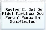 Revive El Gol De Fidel Martínez Que Pone A <b>Pumas</b> En Semifinales