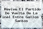 Revive El Partido De Vuelta De La Final Entre Gallos Y <b>Santos</b>