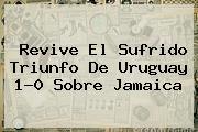 Revive El Sufrido Triunfo De <b>Uruguay</b> 1-0 Sobre <b>Jamaica</b>