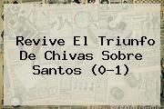 Revive El Triunfo De <b>Chivas</b> Sobre <b>Santos</b> (0-1)