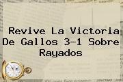 <i>Revive La Victoria De Gallos 3-1 Sobre Rayados</i>