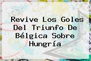 Revive Los Goles Del Triunfo De <b>Bélgica</b> Sobre <b>Hungría</b>