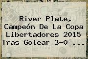 <b>River Plate</b>, Campeón De La Copa Libertadores 2015 Tras Golear 3-0 <b>...</b>