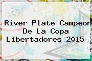 <b>River Plate</b> Campeon De La Copa Libertadores 2015